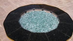 Black Granite Bricks Fire Pit