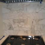 Granite Countertop, White Tile Kitchen Backplash Design