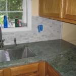 Granite Countertop, Clay Subtile Backsplash Design