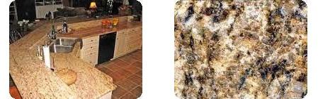 Santa Cecilia Granite Kitchen and Slab
