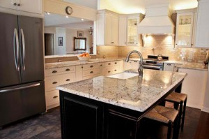 White granite countertops and gray granitecountertops Kitchen Design in Atlanta and North Georgia